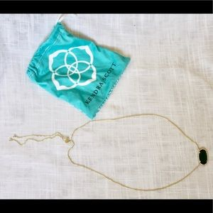 Kendra Scott Delaney Emerald Pendant Necklace
